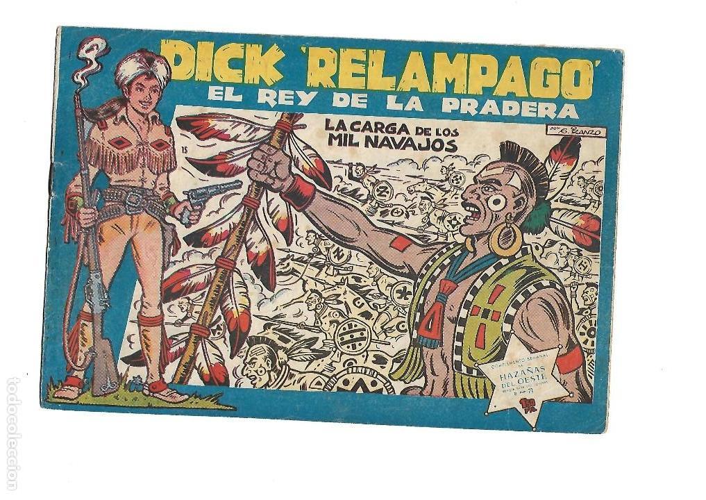 Tebeos: Dick Relámpago, Año 1.960. Colección Completa son 28. Tebeos Originales Dibujante G. Iranzo. - Foto 17 - 128968119