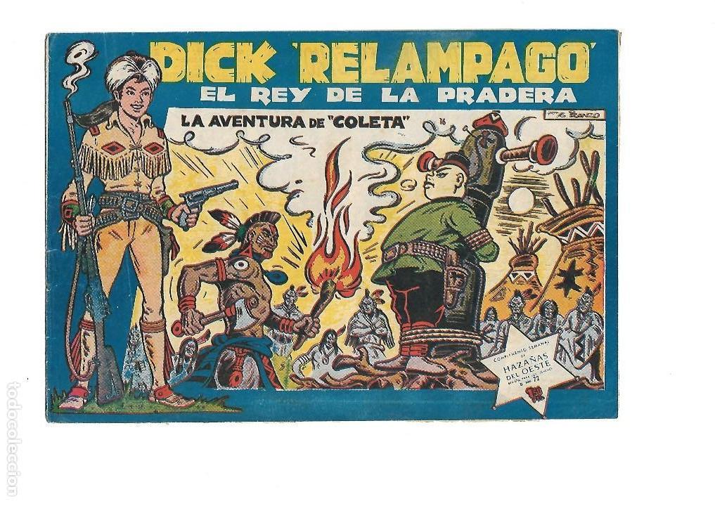 Tebeos: Dick Relámpago, Año 1.960. Colección Completa son 28. Tebeos Originales Dibujante G. Iranzo. - Foto 18 - 128968119