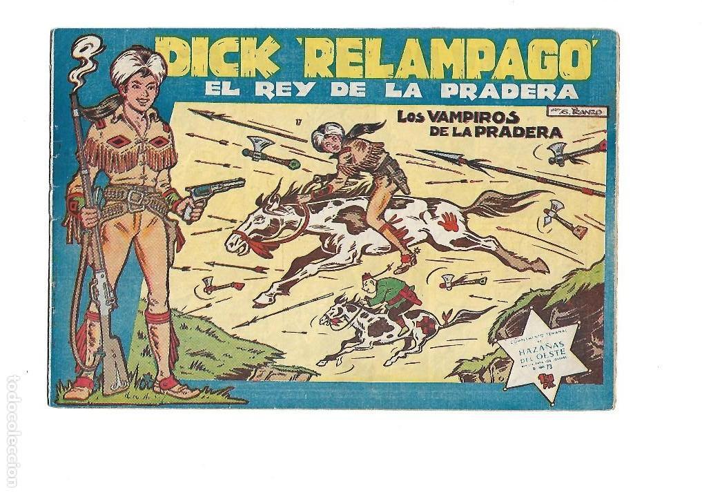 Tebeos: Dick Relámpago, Año 1.960. Colección Completa son 28. Tebeos Originales Dibujante G. Iranzo. - Foto 19 - 128968119