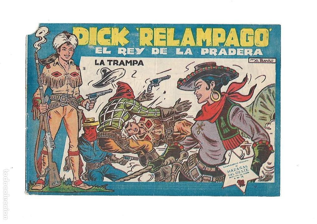Tebeos: Dick Relámpago, Año 1.960. Colección Completa son 28. Tebeos Originales Dibujante G. Iranzo. - Foto 20 - 128968119