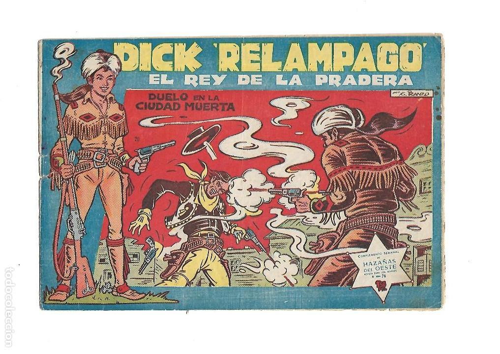 Tebeos: Dick Relámpago, Año 1.960. Colección Completa son 28. Tebeos Originales Dibujante G. Iranzo. - Foto 22 - 128968119