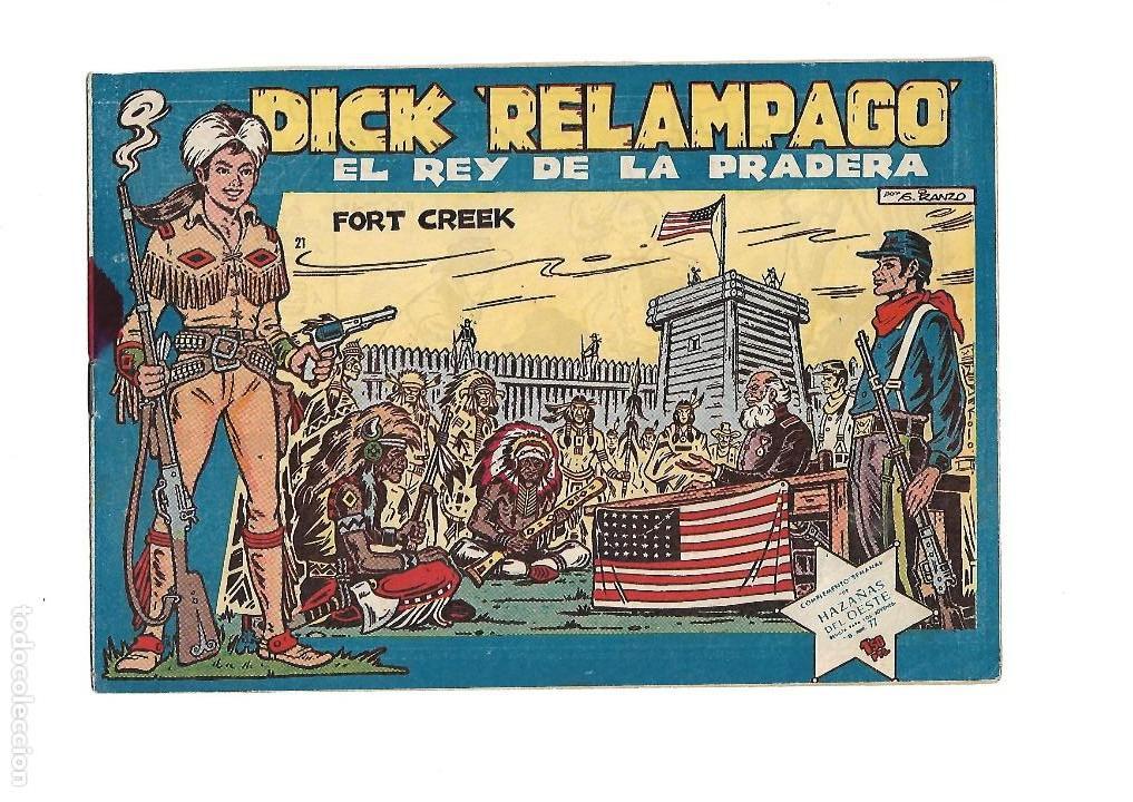 Tebeos: Dick Relámpago, Año 1.960. Colección Completa son 28. Tebeos Originales Dibujante G. Iranzo. - Foto 23 - 128968119