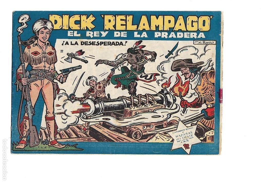 Tebeos: Dick Relámpago, Año 1.960. Colección Completa son 28. Tebeos Originales Dibujante G. Iranzo. - Foto 24 - 128968119