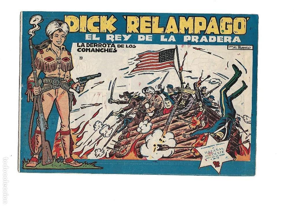 Tebeos: Dick Relámpago, Año 1.960. Colección Completa son 28. Tebeos Originales Dibujante G. Iranzo. - Foto 25 - 128968119