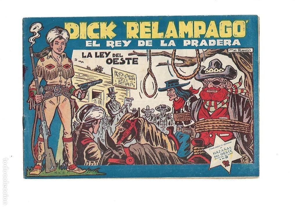 Tebeos: Dick Relámpago, Año 1.960. Colección Completa son 28. Tebeos Originales Dibujante G. Iranzo. - Foto 28 - 128968119