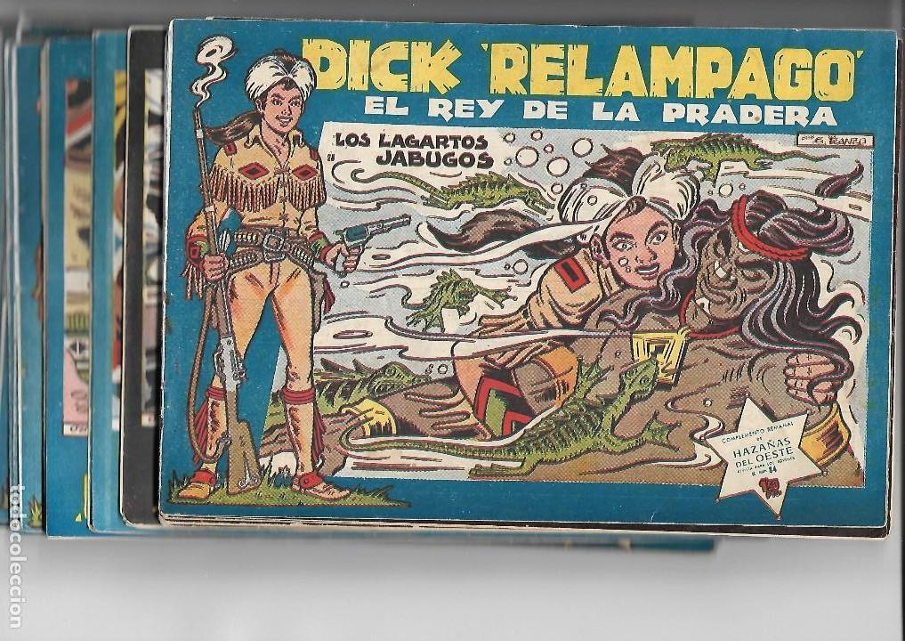 DICK RELÁMPAGO, AÑO 1.960. COLECCIÓN COMPLETA SON 28. TEBEOS ORIGINALES DIBUJANTE G. IRANZO. (Tebeos y Comics - Toray - Dick Relampago)