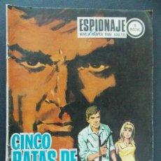 Tebeos: ESPIONAJE Nº 65, CINCO RATAS DE ORO - EDICIONES TORAY - 1967 - BUEN ESTADO...R-9984. Lote 129066779
