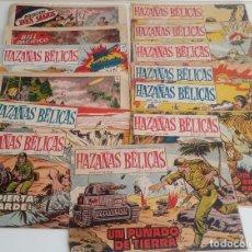 Tebeos: LOTE DE 13 TEBEOS DE HAZAÑAS BÉLICAS 2ª SERIE. TORAY. 1950. ORIGINAL.. Lote 130121271