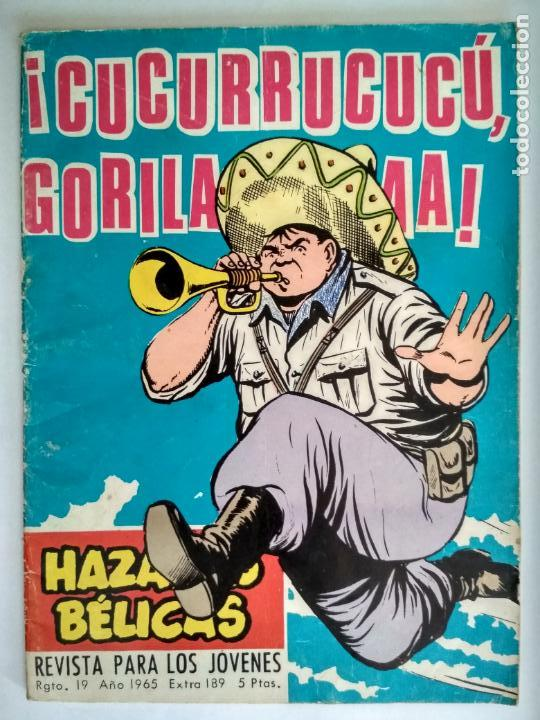 HAZAÑAS BELICAS, Nº 189 - CUCURRUCUCU GORILA, EDICIONES TORAY 1958 (Tebeos y Comics - Toray - Hazañas Bélicas)