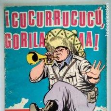 Tebeos: HAZAÑAS BELICAS, Nº 189 - CUCURRUCUCU GORILA, EDICIONES TORAY 1958. Lote 130612982