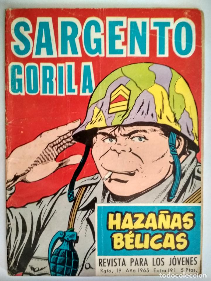 HAZAÑAS BELICAS, Nº 191- SARGENTO GORILA, EDICIONES TORAY 1958 (Tebeos y Comics - Toray - Hazañas Bélicas)