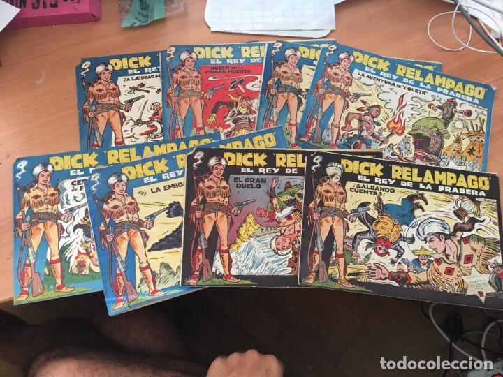 DICK RELAMPAGO LOTE Nº 2, 3, 9, 10, 16, 17, 20, 22 (TORAY ORIGINAL) (COIM8) (Tebeos y Comics - Toray - Dick Relampago)