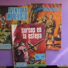 Tebeos: LOTE 3 COMICS HAZAÑAS BELICAS, BOIXCAR,SURCOS EN LA ESTEPA ETC, ¡¡¡BUEN ESTADO!!!. Lote 131096164
