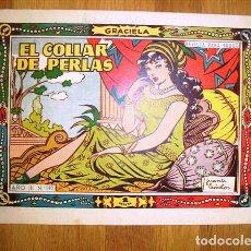 Tebeos: GRACIELA. AÑO III ; Nº 140 : EL COLLAR DE PERLAS. Lote 131338486