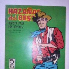 Tebeos: HAZAÑAS DEL OESTE - Nº 95 - EDUARDO-MASIP-JOSÉ DUARTE-1965- MUY BUENO-DIFÍCIL-LEAN-9311. Lote 131434778