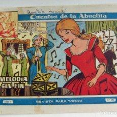 Tebeos: COLECCION CUENTOS DE LA ABUELITA MELODIA SIN FIN Nº 295 TORAY. Lote 131601330