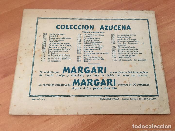 Tebeos: AZUCENA Nº 140 EL JURAMENTO DEL PRINCIPE (ORIGINAL ED. TORAY) PRIMERA EPOCA EDICION (COIM9) - Foto 2 - 131617738