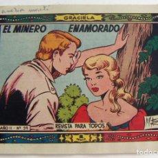 Tebeos: COLECCION GRACIELA EL MINERO ENAMORADO Nº 59 TORAY. Lote 131639586