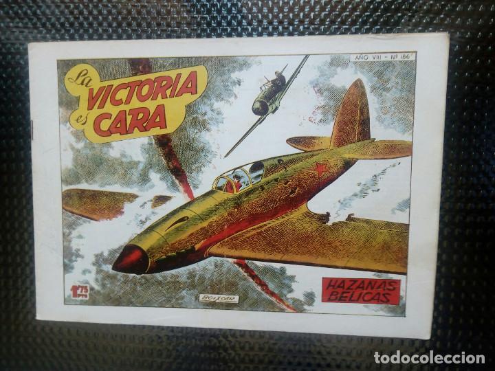 HAZAÑAS BELICAS Nº 186, EDT. TORAY 1955 - ORIGINAL (M-5) (Tebeos y Comics - Toray - Hazañas Bélicas)