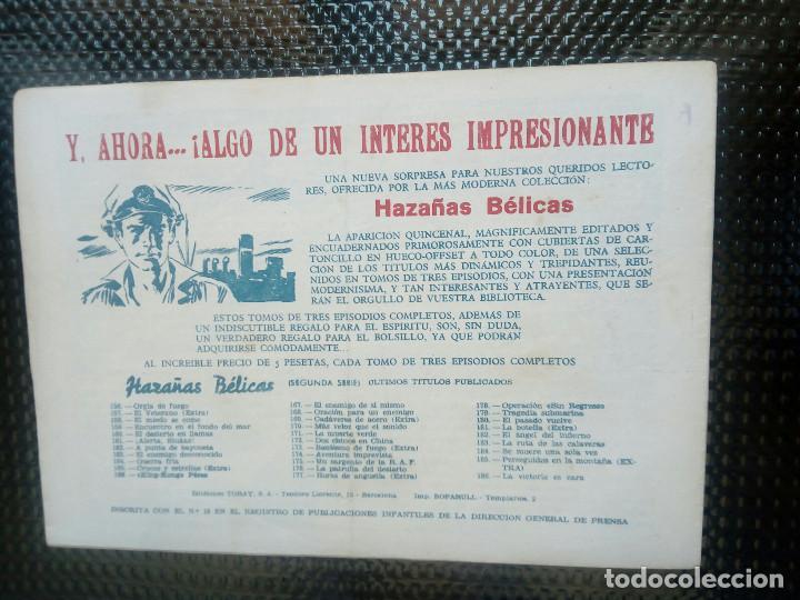 Tebeos: HAZAÑAS BELICAS Nº 186, EDT. TORAY 1955 - ORIGINAL (M-5) - Foto 2 - 131849150