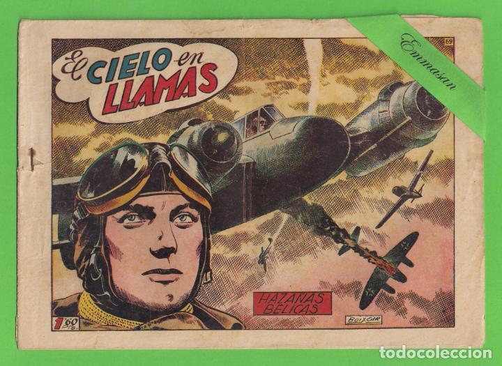 HAZAÑAS BELICAS - Nº 69 - EL CIELO EN LLAMAS - (1953) - TORAY. (Tebeos y Comics - Toray - Hazañas Bélicas)