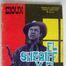 Tebeos: SIOUX Nº 64 EL SHERIFF Y EL PISTOLERO EDICIONES TORAY USADO. Lote 132314266
