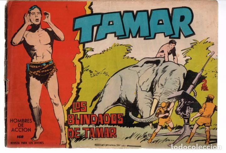 HOMBRES DE ACCION. TAMAR Nº-168 LOS BLINDADOS DE TAMAR. EDICIONES TORAY .1961 (Tebeos y Comics - Toray - Tamar)