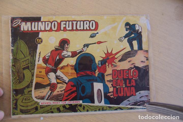 LOTE MUNDO FUTURO, 100 Nº, FOTOS INDIVIDUAL DE 104 INCLUIDO LOS ALMANAQUES (Tebeos y Comics - Toray - Mundo Futuro)