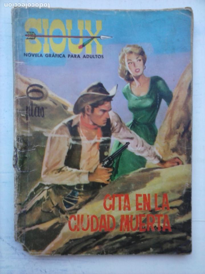 SIOUX Nº 20 ÚLTIMO E ESTE FORMATO, MUY DIFÍCIL - 1964 TORAY - 17 X 12 CMS - 64 PGS. (Tebeos y Comics - Toray - Sioux)