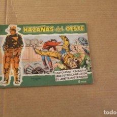 Tebeos: HAZAÑAS DEL OESTE Nº 5, 5 PTAS, EDITORIAL TORAY. Lote 133443462