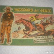 Tebeos: HAZAÑAS DEL OESTE Nº 11, SERIE VERDE. 1959.. Lote 134303098