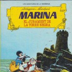 Tebeos: MARINA Nº1 EL JURAMENT DE LA TORRE NEGRA I Nº 2 MAR ENDINS -- EN CATALÀ . Lote 134803626
