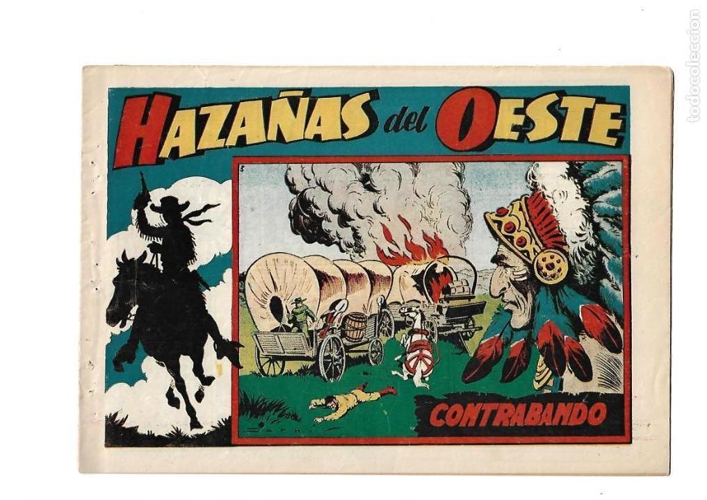 Tebeos: Hazañas del Oeste, Año 1.950 Colección Completa son 11 Tebeos Originales muy dificil de Completar - Foto 4 - 135080638