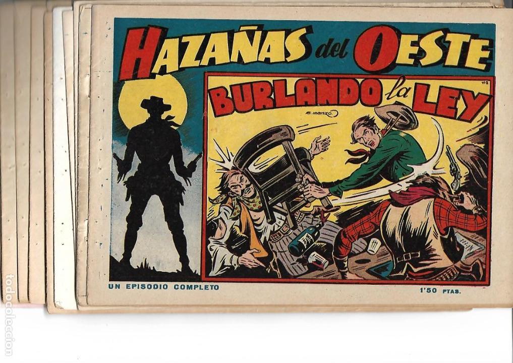 HAZAÑAS DEL OESTE, AÑO 1.950 COLECCIÓN COMPLETA SON 11 TEBEOS ORIGINALES MUY DIFICIL DE COMPLETAR (Tebeos y Comics - Toray - Hazañas del Oeste)