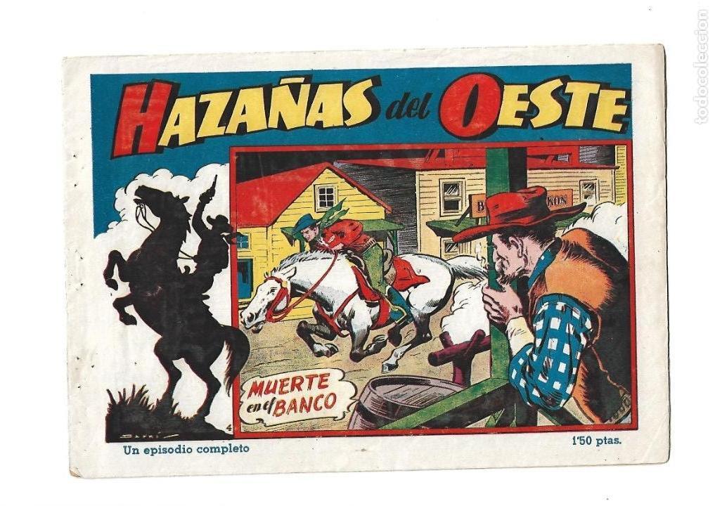 Tebeos: Hazañas del Oeste, Año 1.950 Colección Completa son 11 Tebeos Originales muy dificil de Completar - Foto 8 - 135080638