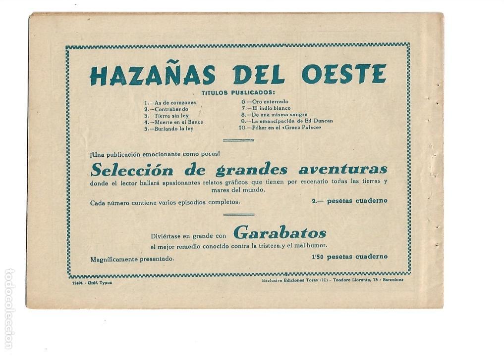 Tebeos: Hazañas del Oeste, Año 1.950 Colección Completa son 11 Tebeos Originales muy dificil de Completar - Foto 21 - 135080638