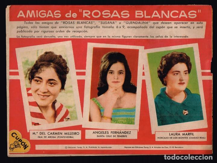 Tebeos: Rosas Blancas .Nº139 El Novio de mi Amiga. Ediciones Toray 1958 - Foto 2 - 135264654