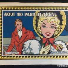 Tebeos: AZUZENA, REVISTA JUVENIL FEMENINA, AQUI NO PARA EL TREN, AÑO XVI Nº 666. Lote 135696167