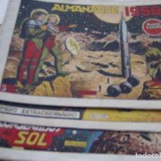Tebeos: EL MUNDO FUTURO - HAY 53 EJEMPLARES + ALMANAQUE 1956 + Nª 45 EXTRAORDINARIO = 55 TOTAL Y SUELTOS .... Lote 135711055