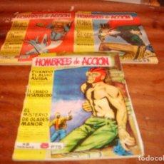 Tebeos: HOMBRES DE ACCIÓN ORIGINALES NºS 4 5 7. EDITORIAL TORAY 1958.. Lote 136477142