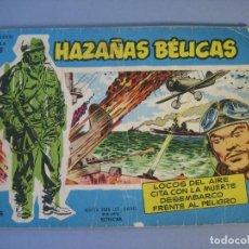 Tebeos: HAZAÑAS BELICAS (1957, TORAY) -EXTRA AZUL- VARIANTE 56 · 1957 · LOCOS DEL AIRE - CITA CON LA MUERTE . Lote 136660382