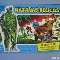 Tebeos: HAZAÑAS BELICAS (1957, TORAY) -EXTRA AZUL- 216 · 16-VII-1965 · HAZAÑAS BÉLICAS. Lote 136661766