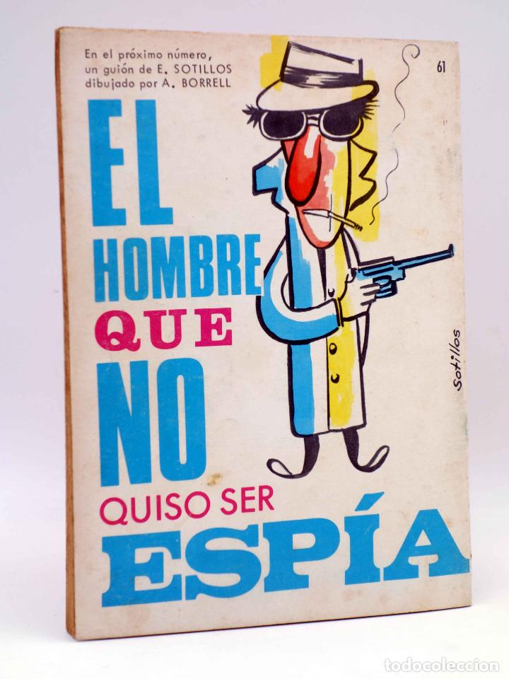 Tebeos: ESPIONAJE 61. ENSALADA DE ESPÍAS (Alex Simmons / José Gual / R. Cortiella) Toray, 1967 - Foto 2 - 139394682