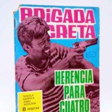 Tebeos: BRIGADA SECRETA 123. HERENCIA PARA CUATRO ASESINOS (CLARK CARRADOS / J. GUAL) TORAY, 1965. Lote 139394726