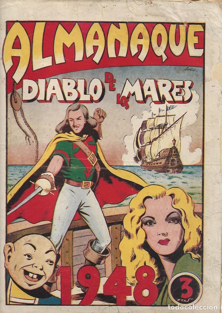 EL DIABLO DE LOS MARES, AÑO 1.947 COLECCIÓN COMPLETA SON 68 TEBEOS + ALMANAQUE 1948 DE FERRANDO. (Tebeos y Comics - Toray - Diablo de los Mares)
