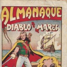 Tebeos: EL DIABLO DE LOS MARES, AÑO 1.947 COLECCIÓN COMPLETA SON 68 TEBEOS + ALMANAQUE 1948 DE FERRANDO.. Lote 139805446