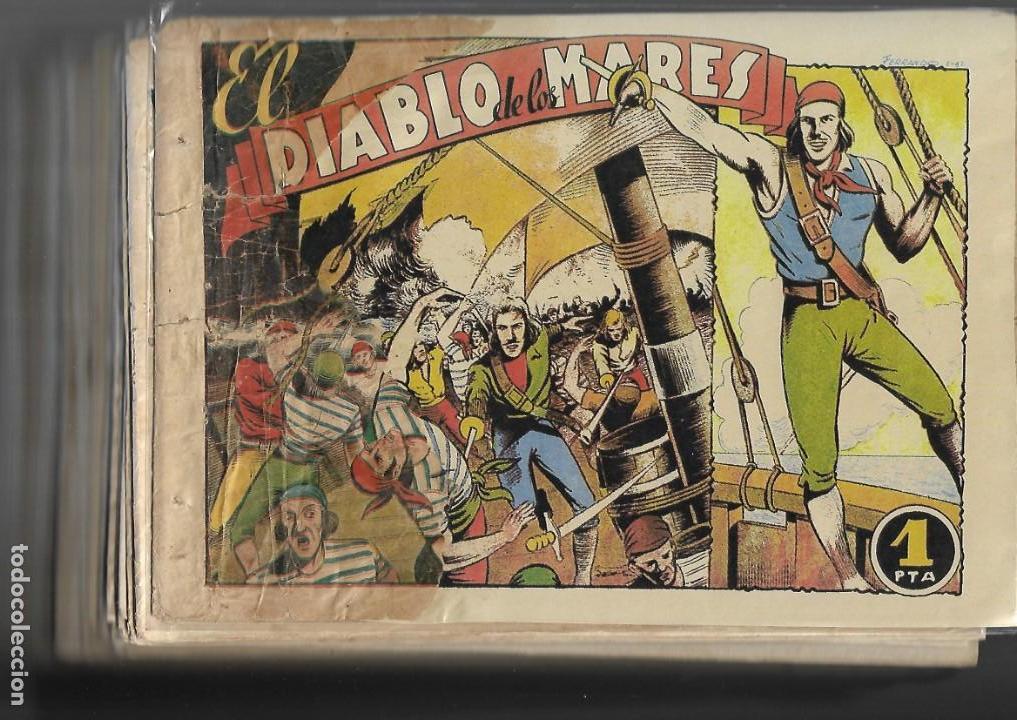 Tebeos: El Diablo de los Mares, Año 1.947 Colección Completa son 68 Tebeos + Almanaque 1948 de Ferrando. - Foto 7 - 139805446