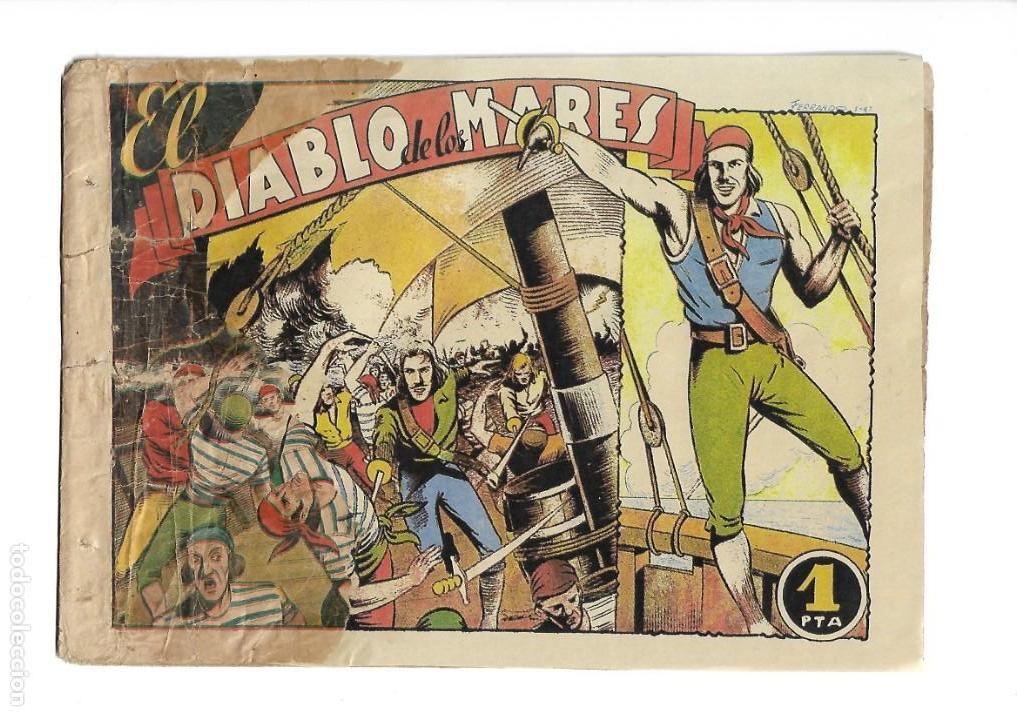 Tebeos: El Diablo de los Mares, Año 1.947 Colección Completa son 68 Tebeos + Almanaque 1948 de Ferrando. - Foto 8 - 139805446