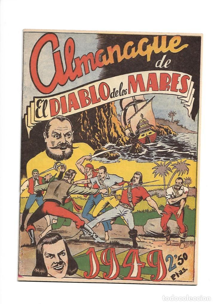 Tebeos: El Diablo de los Mares, Año 1.947 Colección Completa son 68 Tebeos + Almanaque 1948 de Ferrando. - Foto 16 - 139805446