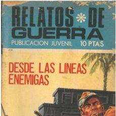Tebeos: RELATOS DE GUERRA Nº 218. TORAY . C-30. Lote 140437818